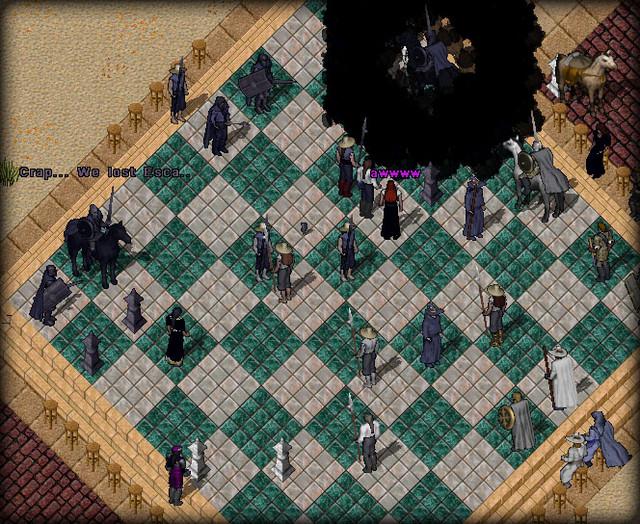 Une partie d'échecs...