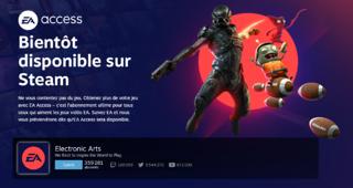 EA Access s'annonce sur Steam
