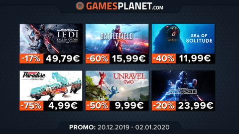 Promo Gamesplanet : promotions surprises sur les jeux Electronic Arts, promotion record sur Monster Hunter: World