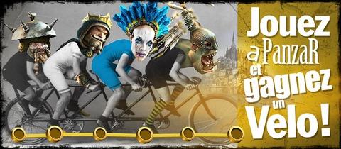 Jouez à Panzar et gagnez un vélo