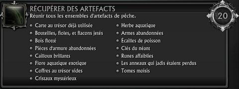 Artéfact collection pêche