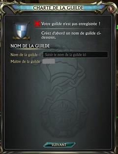 Création de la guilde