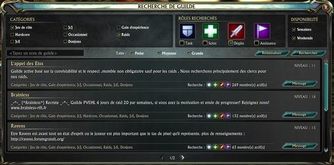 Recherche de guilde - Results1