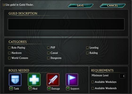 Guild recrut preview