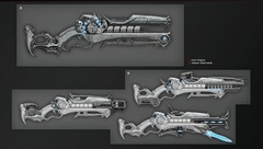 Un concept art des futures armes de charge