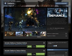 Steam solde Defiance : -66%