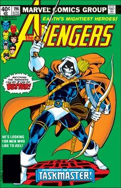 Taskmaster on the cover of Avengers #196 (1980)