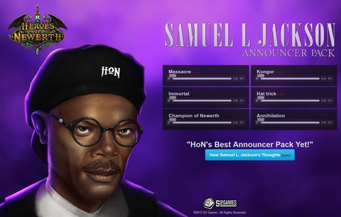 Heroes of Newerth - Heroes of Nerwerth se paye Samuel L. Jackson