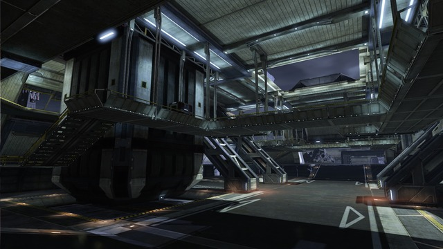 Intérieur d'un cargo spatial