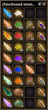 Voici les ressources que la transmutation vous donne lorsque vous sacrifiez des objets. Elles serviront à créer des ornements qui amélioreront grandement votre équipement.