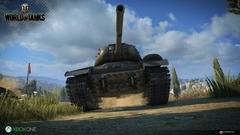 Capture d'écran de la version Xbox One de World of Tanks