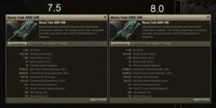 AMX 50B en version 7.5 et 8.0