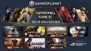 Soldes de printemps Gamesplanet : 19 avril 2020