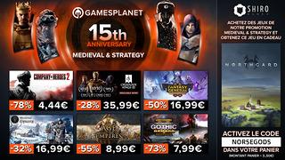 Promo Gamesplanet : 400 jeux de stratégie et médiévaux soldés - avec Northgard offert pour toute commande
