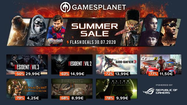 Summer Sales Gamesplanet - 30 juillet 2020