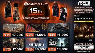 Promo Gamesplanet : 400 RPG et jeux d'aventure en promotion