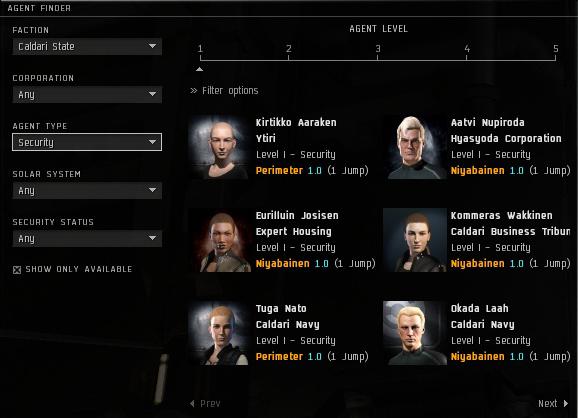 Interface avancée de recherche d'agents