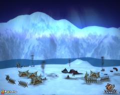 Village enneigé de Marduka