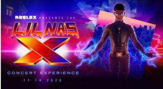 Lil Nas X en concert virtuel dans Roblox