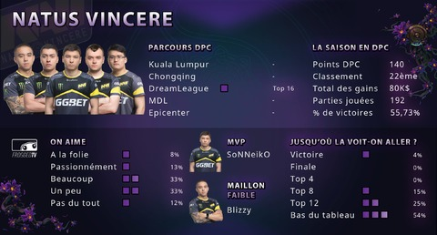 Dota 2 - Les équipes de The International 2019 : Natus Vincere