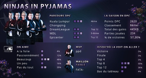 Dota 2 - Les équipes de The International 2019 : Ninjas in Pyjamas