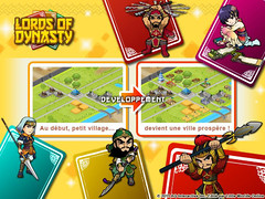 La version francophone de Lords of Dynasty en bêta-test