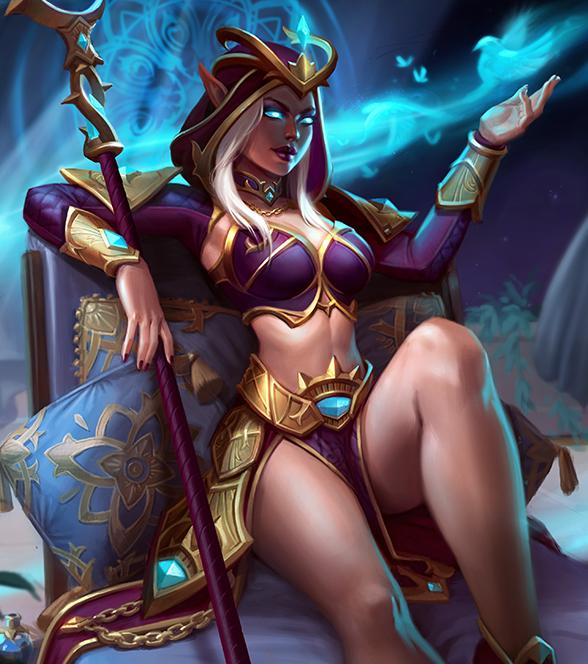 Aphrodite Sorcière Pourpre