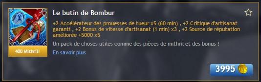 Le butin de Bombur