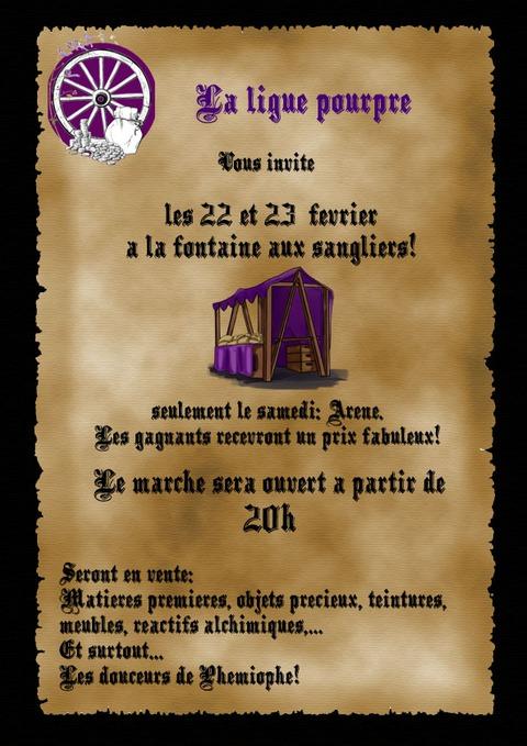 Marché de la Ligue Pourpre février 2019