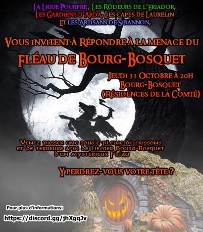 Evénement Halloween 2019 Bourg-Bosquet