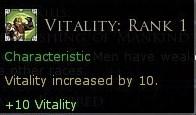 trait passif de +10 vitalité