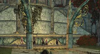La cour centrale
