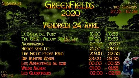 Greenfields vendredi 24