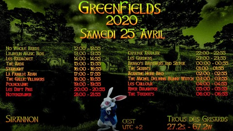 Greenfields samedi 25 avril