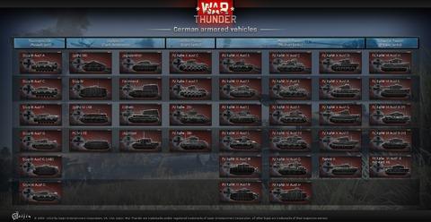 Arbre de tanks allemands