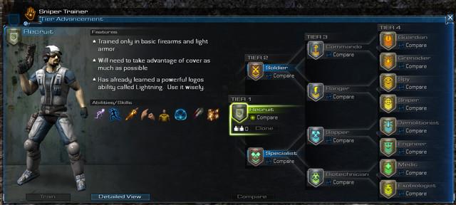 La nouvelle interface d'entraînement