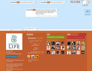Page plurk Second Life