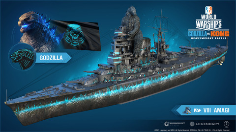 World of Warships - La confrontation entre Kong et Godzilla s'invite dans World of Warships