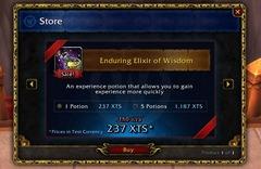 Boutique in-game de World of Warcraft (serveur de test, patch 5.4)