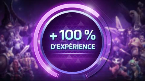 100% d'expérience en plus !
