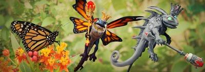 Modélisation costume luisaile papillon
