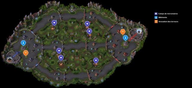 Carte Jardins de terreur jour