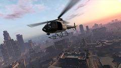 GTA V - Hélicoptère survolant la ville