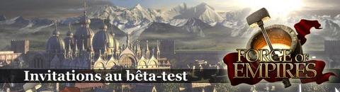 Jeux-Concours : Invitations au bêta-test de Forge of Empires