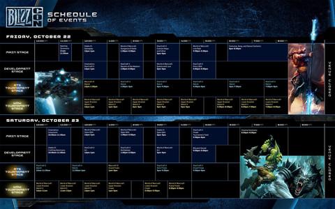 Programme de la BlizzCon 2010