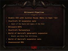 Projets à venir de Blizzard (septembre 2011)