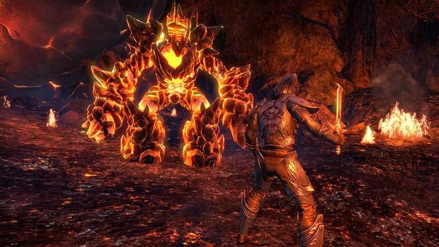 TESO Morrowind Lava Fight