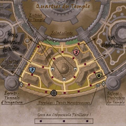 Carte commentée du Quartier du Temple