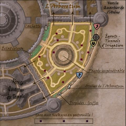 Carte commentée du Quartier de l'Arboretum