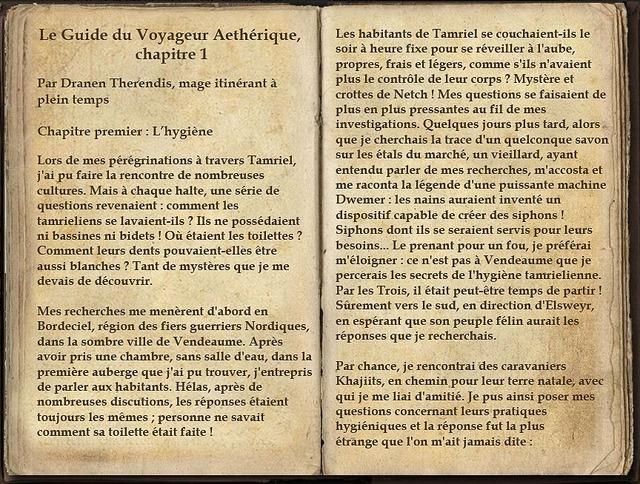 Le Guide du Voyageur Aethérique, chapitre 1, page 1